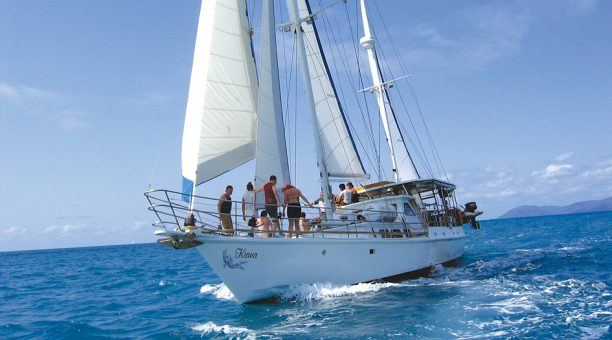 Enjoy the sail as you cruise past the Whitsunday Islands, out to the Outer Barrier Reef.