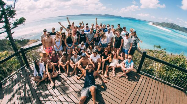 Take the ultimate selfie from Hill Inlet Lookout